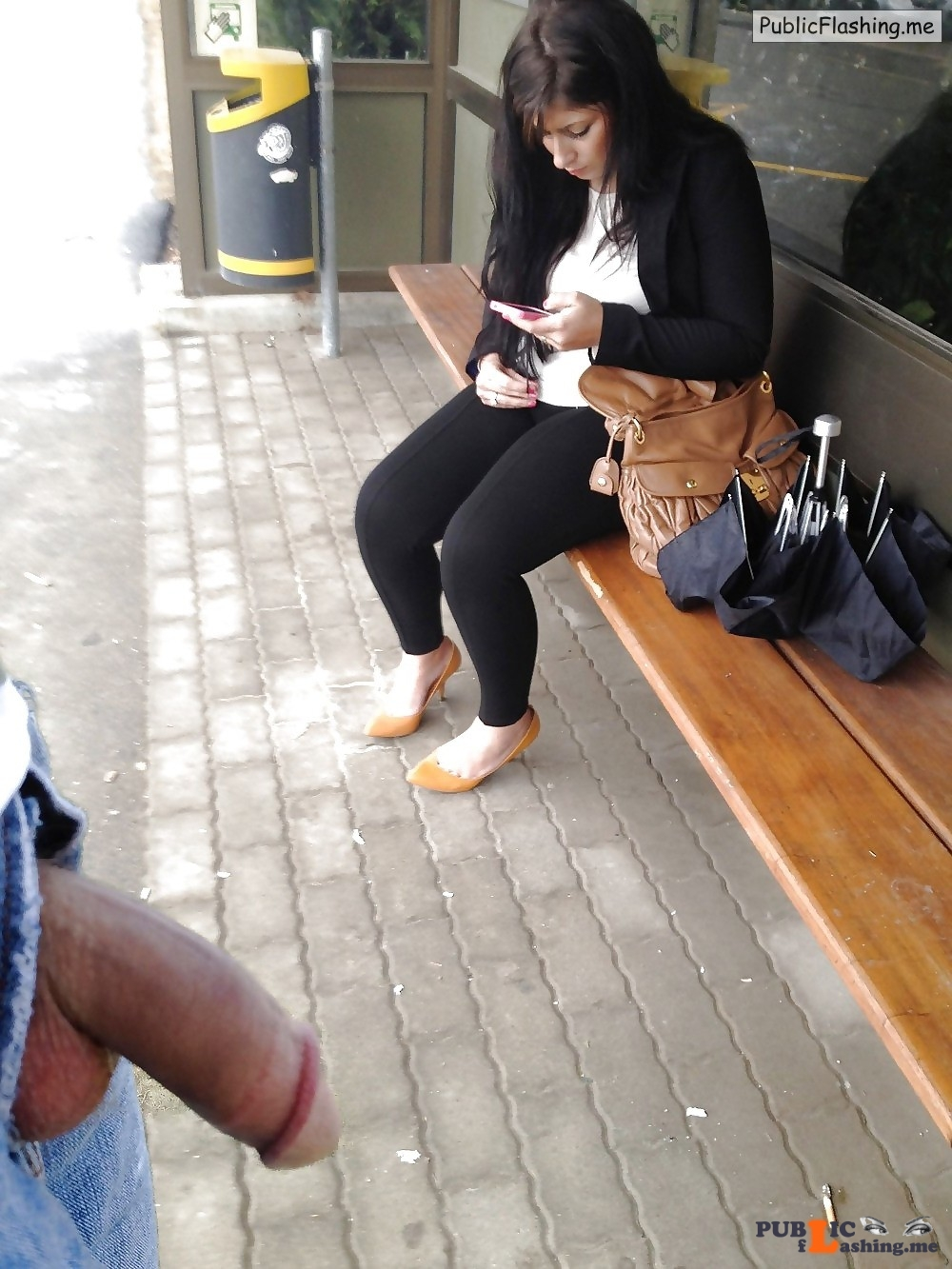 Dick flash pics on bus station