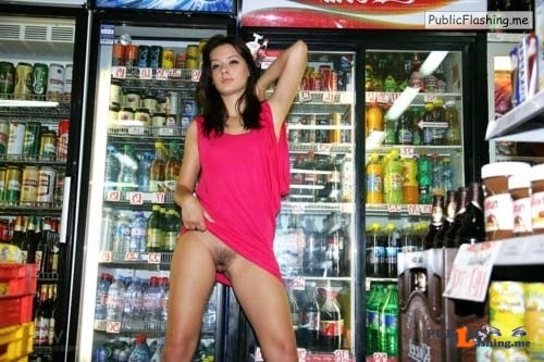 No panties in public videos college pink dress flashing pussy supermarket