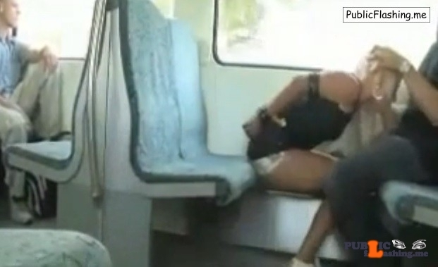 Slave blonde blowjob in train VIDEO