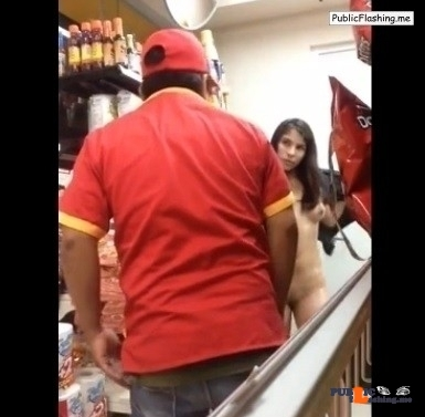 Masturbating in supermarket cam girl gets caught VIDEO