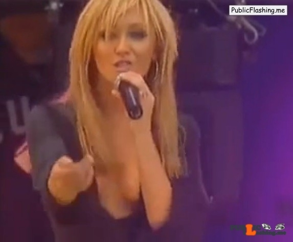 Jenny Frost braless nipple slip VIDEO