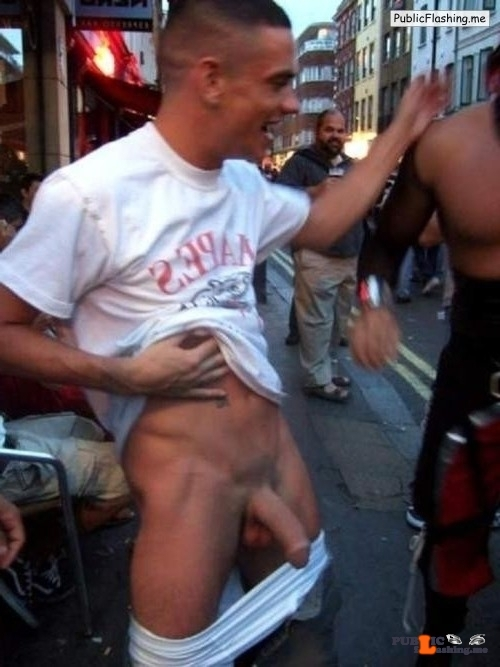 Street dick flasher Public Flashing