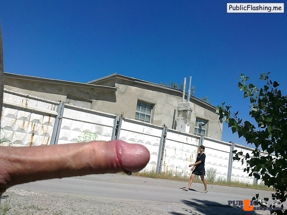 flashing huge cock