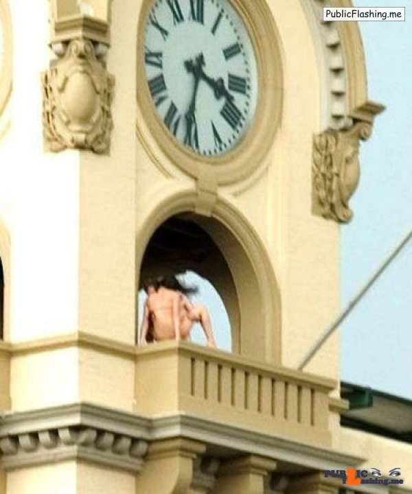 Caught in sex on town clock tower Public Flashing