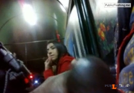 Flashing black dick to Asian teen in a bus VIDEO Public Flashing