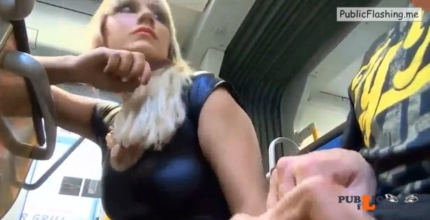 German college girl handjob and blowjob in public bus VIDEO Public Flashing