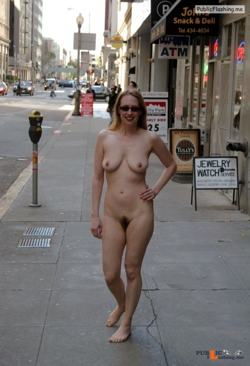 Nude women in public places