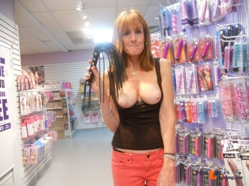 Public flashing photo outdoornudeselfpics:Sex shop flashing 2! Public Flashing