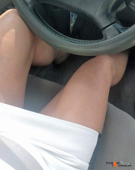 No panties A playful ride home... pantiesless Public Flashing