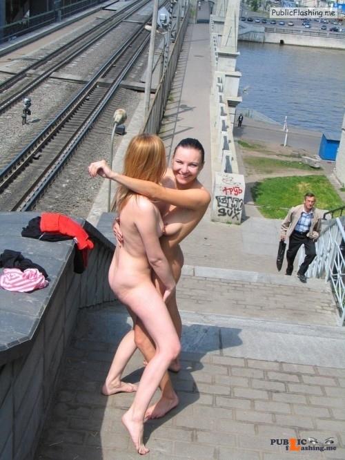 Public nudity photo girls naked outdoors:Hug Follow me for more public... Public Flashing