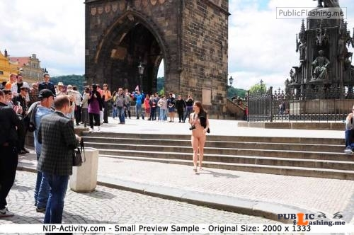 Public nudity photo nipactivity:MonaLee in Prague Follow me for more public... Public Flashing