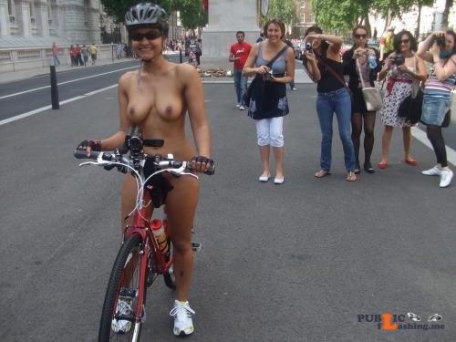 Public nudity photo paintedfemales: World Naked Bike Ride Bicycle Follow me for... Public Flashing
