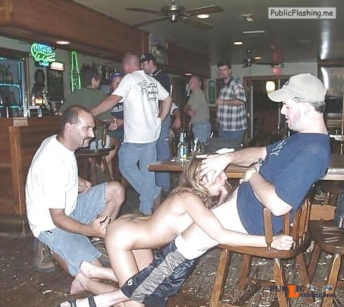 Exposed in public Bar slut… Public Flashing