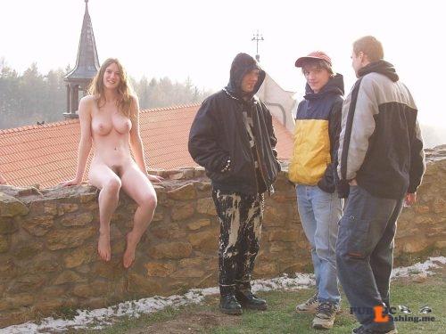 Public nudity photo nakedgirlsdoingstuff: Most popular girl in school. Follow me... Public Flashing