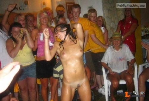 Public nudity photo hot party girls:Party girls... Public Flashing