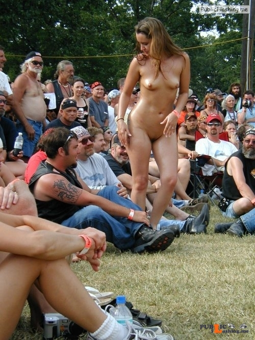 Public nudity photo nakedcascadia:#exhibitionist   Entertaining the crowd… Follow me... Public Flashing