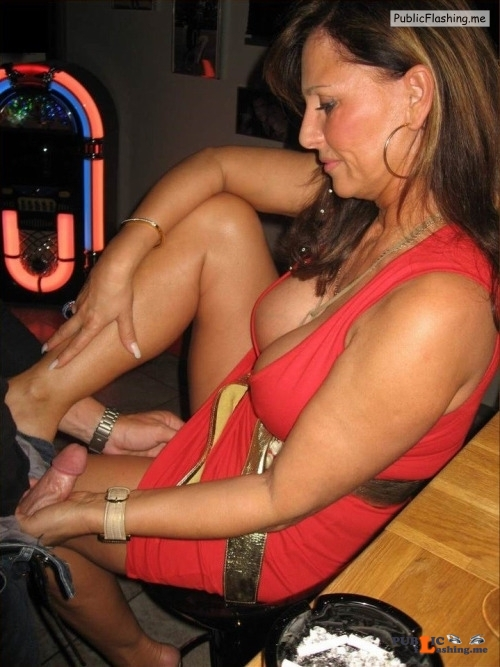 Exposed in public Bar play… Public Flashing