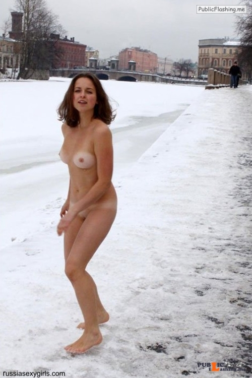 Public nudity photo bdsm genre: THEME: WOMAN in the SNOW ♥CLICK HERE for pictures... Public Flashing