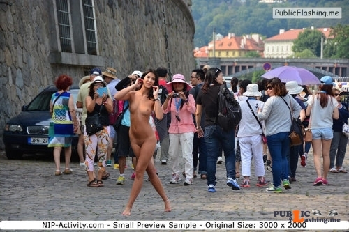 Public nudity photo nude girls in public: NIP Activity:  Drahomira     Series... Public Flashing