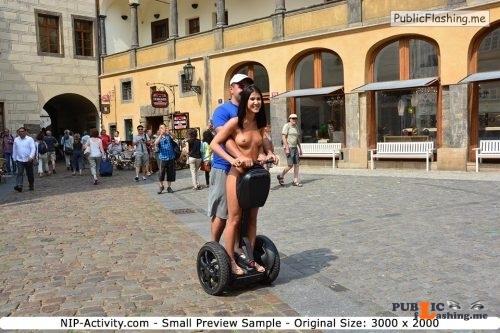 Public nudity photo nude girls in public: NIP Activity: Drahomira   Series... Public Flashing