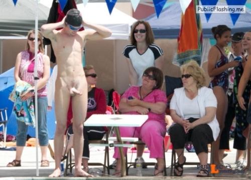 Public nudity photo public4erection: Follow me for more public exhibitionists:... Public Flashing