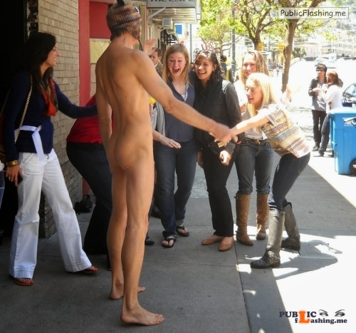 Public nudity photo cfnmgirls:Cfnm Exhibitionist Jerks Off While Talking To Girl On... Public Flashing