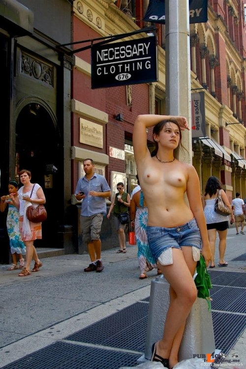 Public flashing photo maxwell d: Morgan Barbour ph. 'Topless New York' Public Flashing