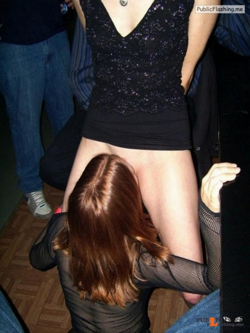 Exposed in public Dance floor pussy eating… Public Flashing