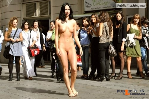 Public nudity photo thelifeoftami: …she felt the eyes on her bare butt and back as... Public Flashing