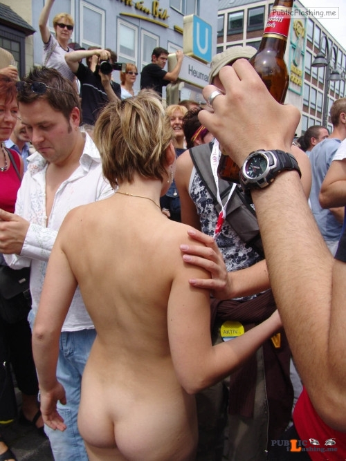 Public nudity photo nakedgirlsdoingstuff:Girl at pride parade. Follow me for more... Public Flashing