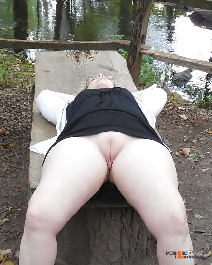 No panties funupstatecpl: Went to a park with hubby and his friend. Good... pantiesless Public Flashing