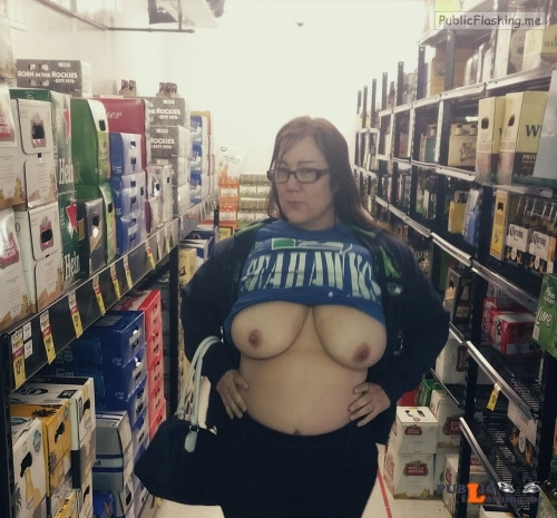 Flashing in public store Love the plus size girls that show off their tits in stores... Public Flashing