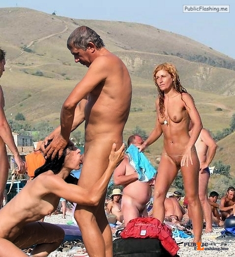 Public nudity photo camping sex: smoothballsrolling: to her surprise he was still... Public Flashing