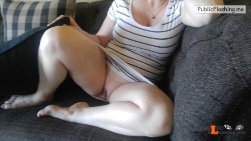No panties nasty business: Wife's lips parted, a little blurry but had to... pantiesless Public Flashing