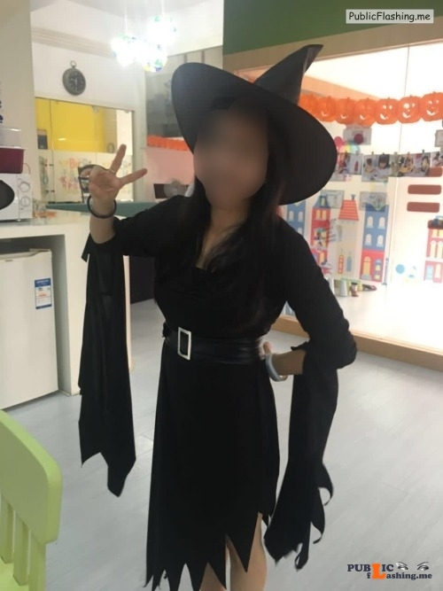 No panties lbfm naughty: lbfm naughty: The wicked little witch at her... pantiesless Public Flashing