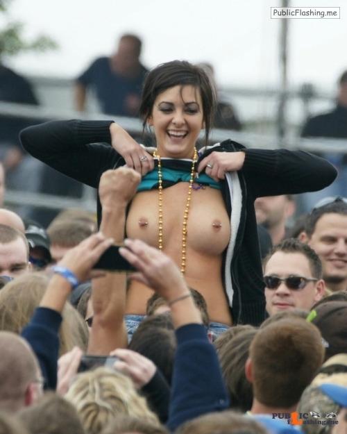 Public nudity photo festivalgirls:Beads Follow me for more public exhibitionists:... Public Flashing