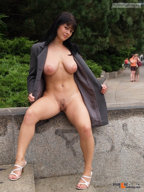 Public nudity photo naughty bridge: Follow me for more public exhibitionists:... Public Flashing
