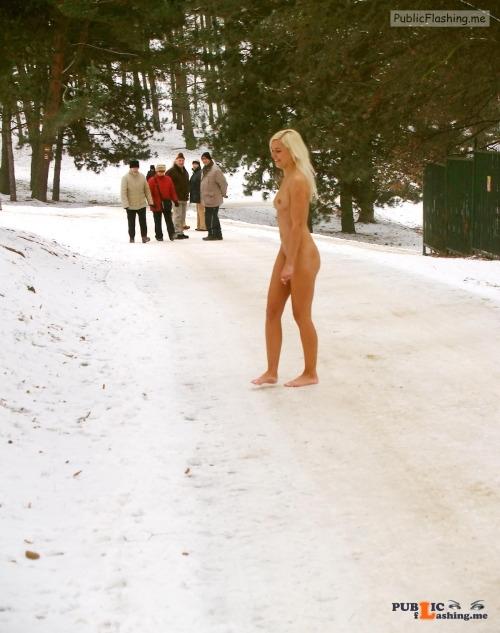 Public nudity photo tanallover:Bareness … brrr Follow me for more public... Public Flashing