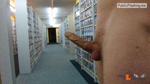 Outdoor nude selfshot myoutoorcock:Some fun in a Videostore! Public Flashing