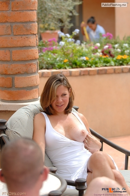 FTV Babes Liora clearly enjoys displaying her tits, not caring who gets a... Public Flashing