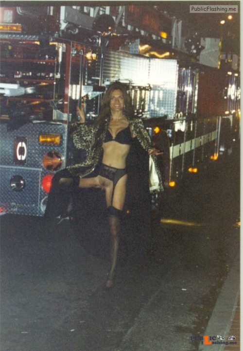 Exposed in public Helping out the local firefighters. Thank you for the... Public Flashing