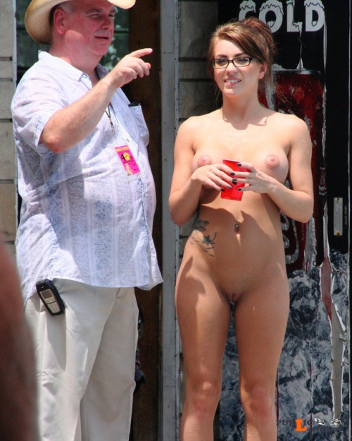 Public flashing photo questionsandacts: Get directions from a stranger while you are... Public Flashing