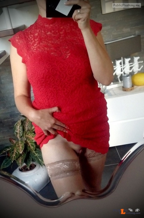 No panties sharinglilith:Selfie for my bf before going out alone a while... pantiesless Public Flashing