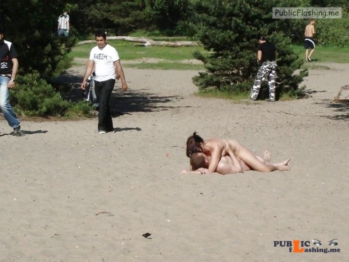 Public nudity photo hotbeachsexcnudeblog:Fuck her on the beach Follow me for more... Public Flashing