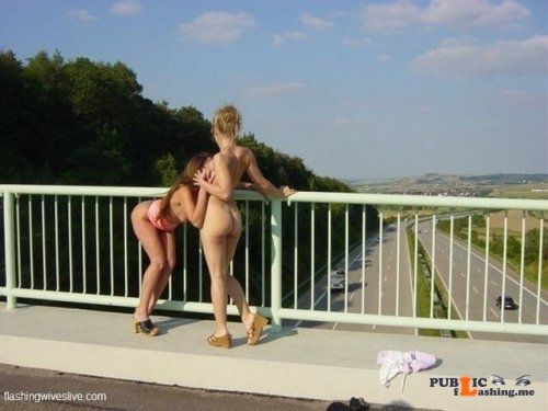 Public flashing photo flashing wives: Girls showing their tits and pussy above the... Public Flashing