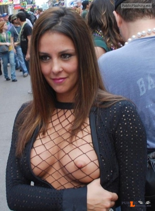 Public nudity photo exposed on public:Fishnet Nipple! http://ift.tt/2mpHPnq Follow... Public Flashing