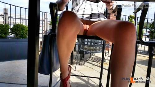 No panties xoxox shhh: these high stools are perfect for showing off my... pantiesless Public Flashing