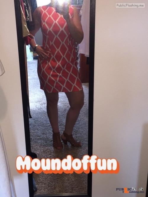 No panties moundoffun: Happy Easter??!! Headed to teach Sunday school and... pantiesless Public Flashing