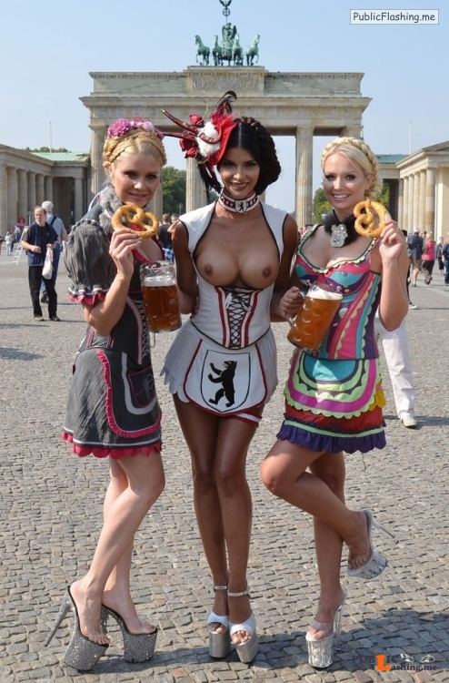 Public nudity photo festivalgirls:Oktoberfest Fraulein http://tiny.cc/cwqtiy Follow... Public Flashing