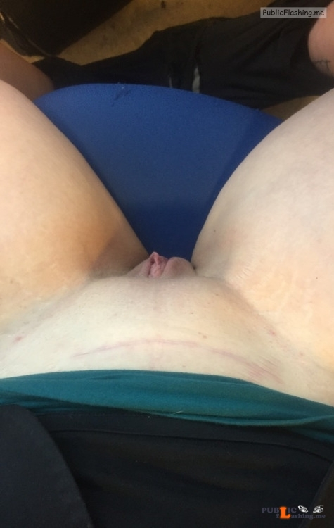 No panties @hornyasshell2015 getting naughty at work. Thanks for the... pantiesless Public Flashing